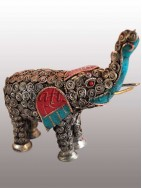 filigree elephant big stone setting