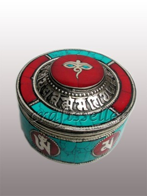 Jewellery box White metal stone setting