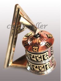 Table prayer wheel triangle stand