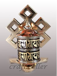 Table prayer wheel brass back loop