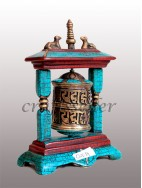 2 pillar stone setting Table prayer wheel