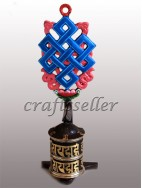 Top colour astamangala Prayer wheel