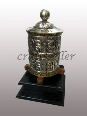 Table Prayer Wheel with wooden base