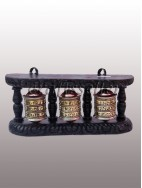 Wall Prayer Wheel black frame (3x1) small